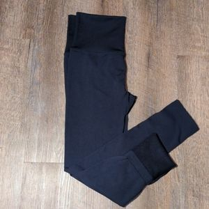 NEW Jenny Boston Fleece Lined Leggings - Navy Blue